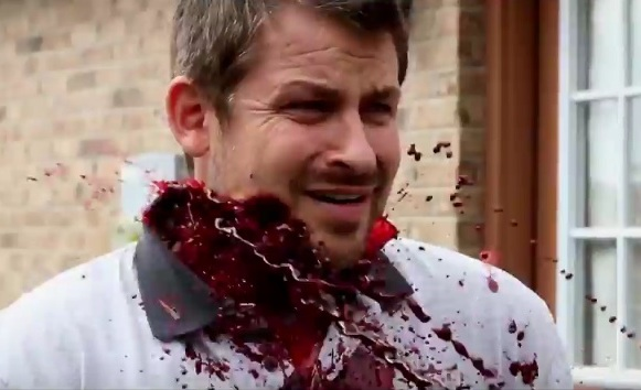 Exclusive clip from VOLUMES OF BLOOD: HORROR STORIES paints the lawn red