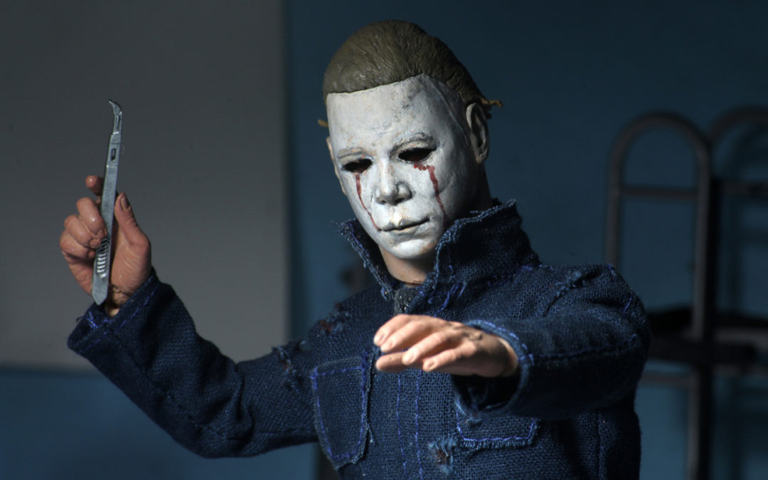 "NECA BRINGS YOU MORE OF THE NIGHT HE CAME HOME WITH ITS ""HALLOWEEN II"" CLOTHED MICHAEL MYERS FIGURE"
