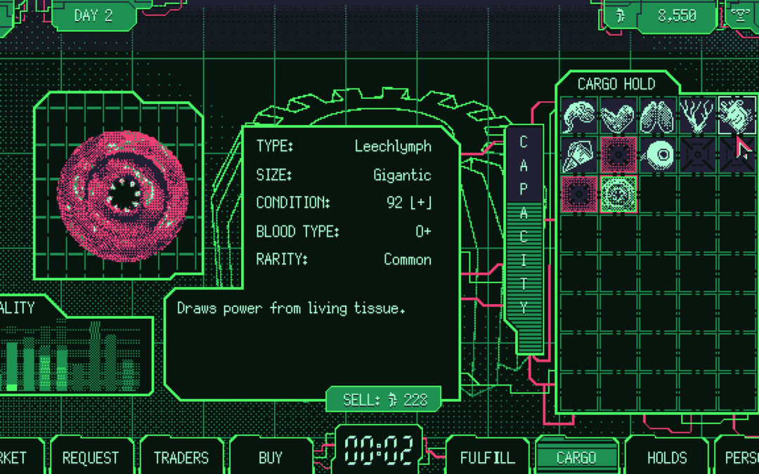 """Make It Rain with Blood and Guts in """"Space Warlord Organ Trading Simulator"""""""