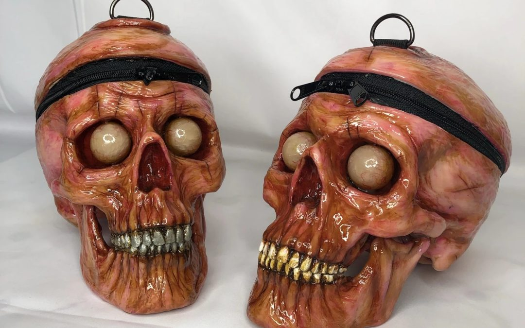 """No Thoughts, Head Empty, But There's Plenty of Room For Your Stuff in The """"Moldy Skull Bag"""""""